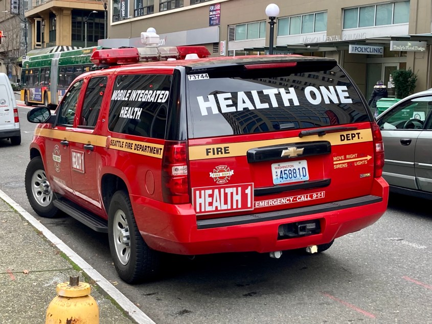 Health One, a Seattle Fire Department program that responds to low-acuity crisis calls, is a relatively new alternative for 911 dispatchers.