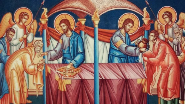 Icon of Christ distributing Holy Communion