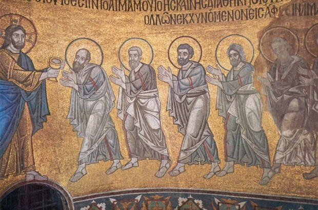 Apostles receiving the Eucharist, St. Sophia Cathedral, Kiev