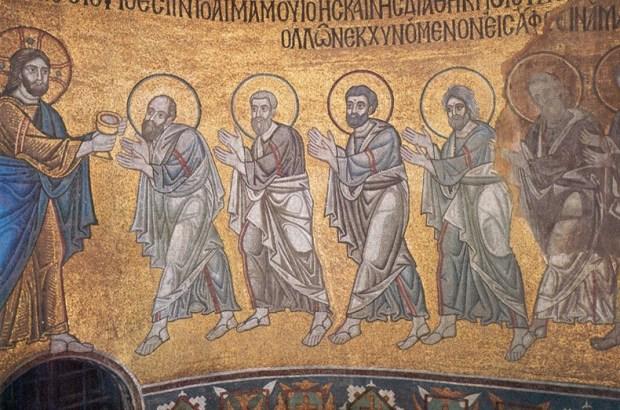 Apostles receiving the Eucharist, St. Sophia Cathedral, Kiev