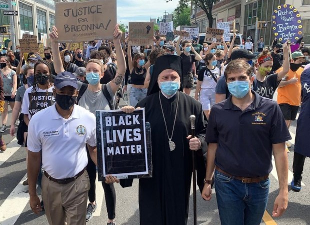 Archbishop Elpidophoros at Black Lives Matter march