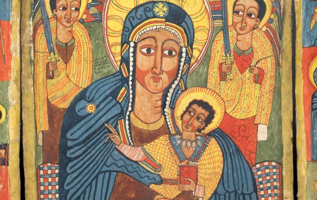 Ethiopian icon of Mary and Jesus