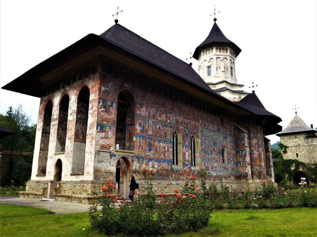 Church of the Annunciation, 1532–37, view from southwest, Moldovița Monastery, Moldavia, Romania (photograph by Alice Isabella Sullivan)