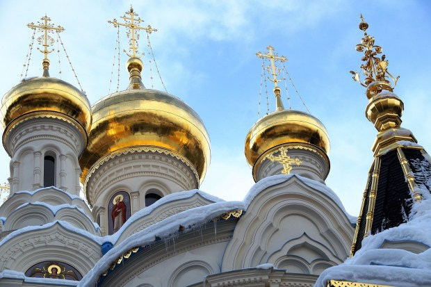 Golden domed Russian church