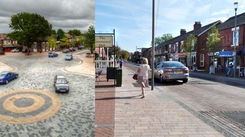 Village Shared space - Poynton, Cheshire
