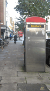 Almost but not quite a traditional phone box