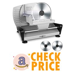 OneisAll Meat Slicers Electric, Food Deli Slicers Removable Blades
