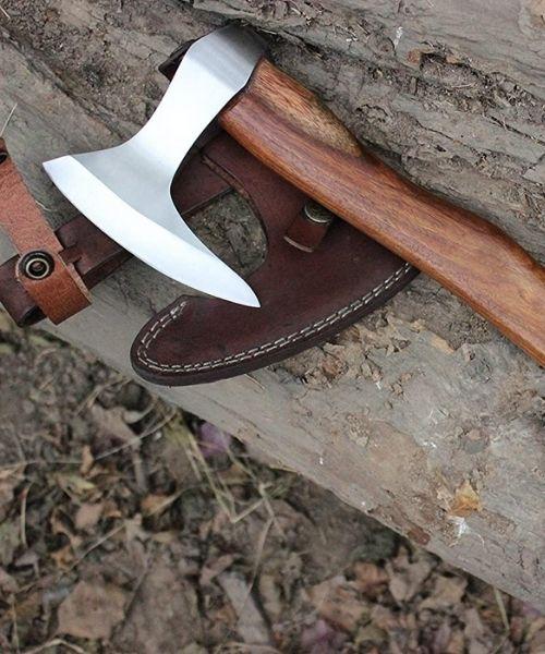 Hand Forged Tactical Hatchet Tool Viking Bearded Hawk Tomahawk Axe Camping Axe