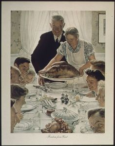 """Norman Rockwell's """"Freedom from Want"""" or """"The Thanksgiving Picture"""" © 1943 