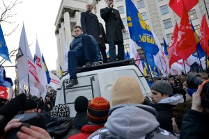 Opposition Cabinet Ministers joining the protests in Kiev on Nov. 27, 2013 © Ivan Bandura | Flickr