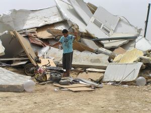 A demolished house in the unrecognized Bedouin village of Al-Araqeeb, few days after all the houses of the village were demolished by Israeli law enforcements, July 31, 2010 © Emanuel Yellin | Wikimedia Commons