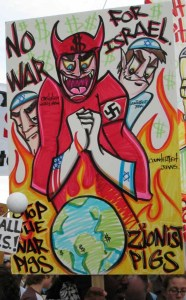 Poster held by a protester at an anti-war rally in San Francisco on February 16, 2003. © zombie | zombietime.com
