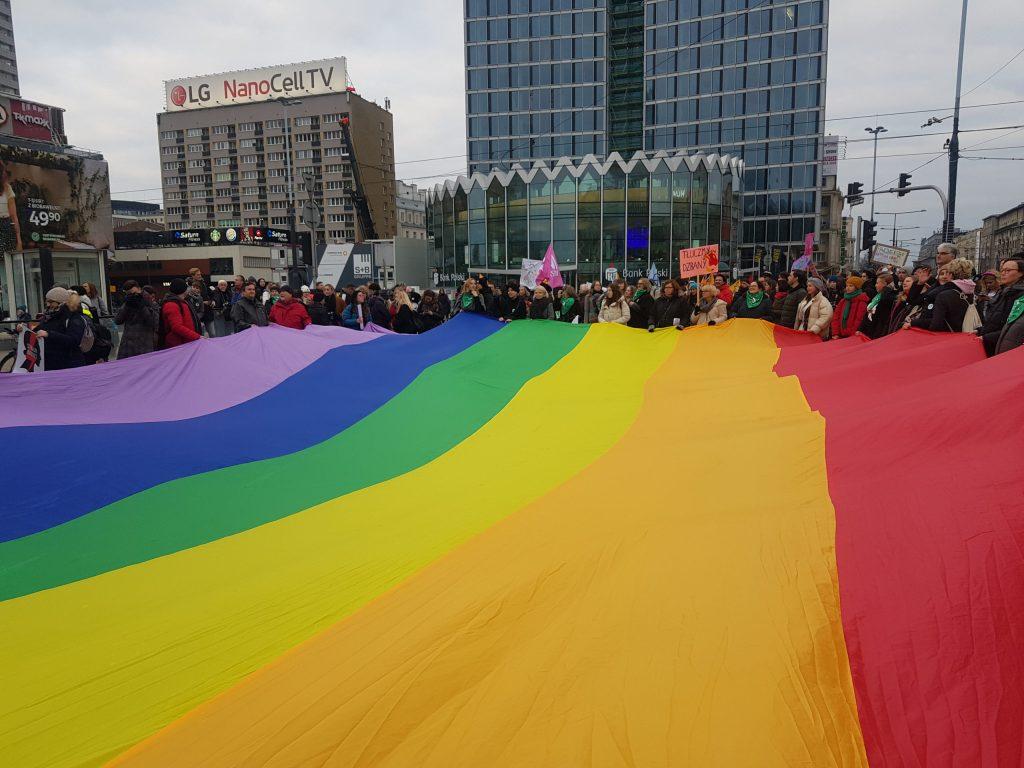 Women's Day organized by Polish Women's Strike, Warsaw, March 8, 2020. Author's Photo.