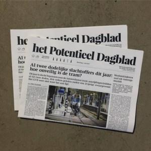 Het Potentieel Dagblad, werk door Roos Groothuizen