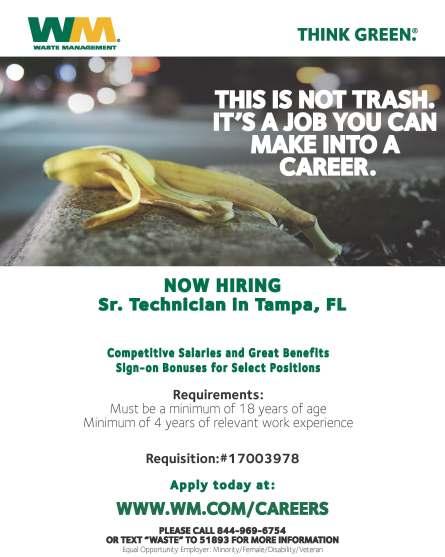 Sr. Technician - Tampa FL