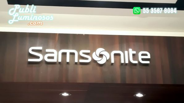 Logotipo 3D Samsonite decoracion PoP 1