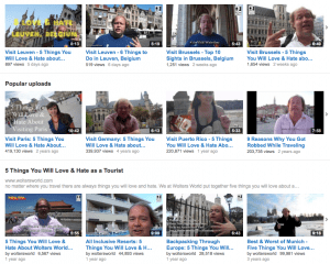 A few of Wolters' YouTube videos