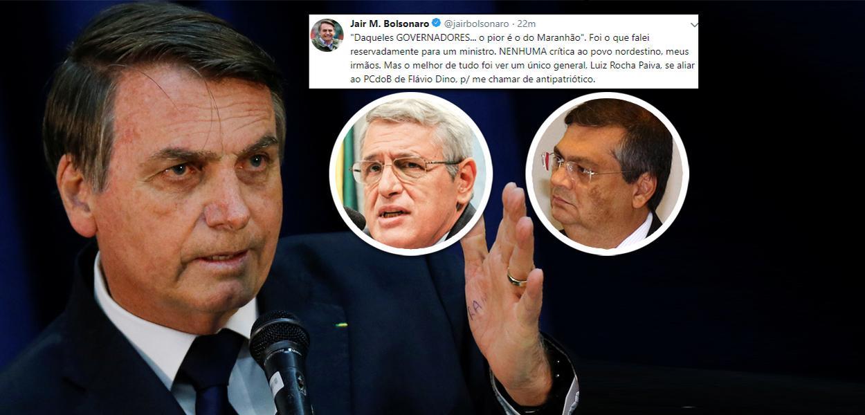 20190721100748 1c1446bf ceb8 47a3 bc6a 2fb3307bfc2b - APÓS AGRESSÃO AOS NORDESTINOS: Bolsonaro volta a negar insulto e ataca general que o criticou