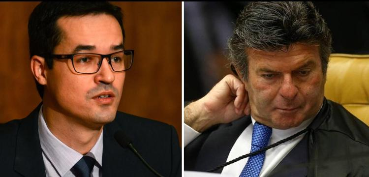 Deltan Dallagnol e Luiz Fux