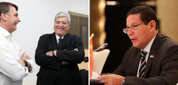 Jair Bolsonaro, Luiz Datena e Hamilton Mourão