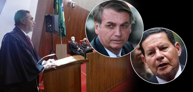 Luis Roberto Barros, Jair Bolsonaro e Hamilton Mourão