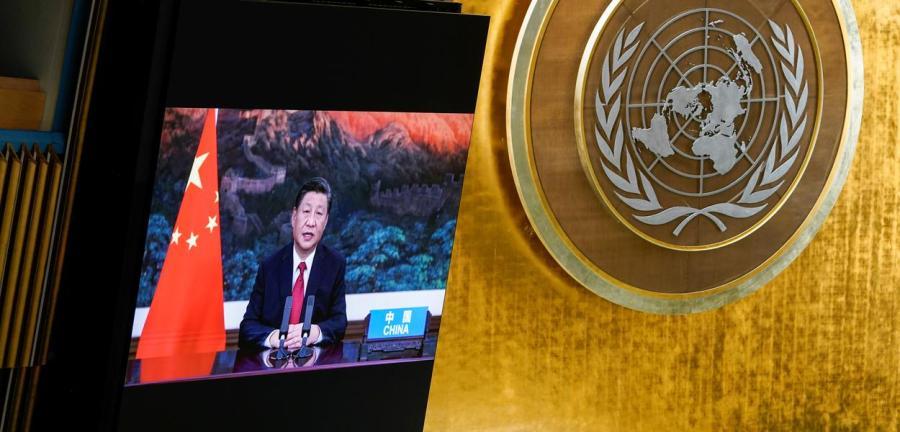 Discurso em vídeo do presidente chinês, Xi Jinping, durante Assembleia-Geral da ONU21/09/2021