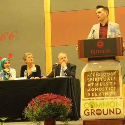 Chaplain Chris D. Stedman speaking