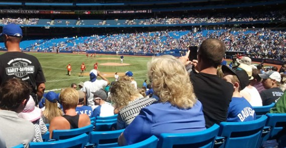 Jays game from the third base line