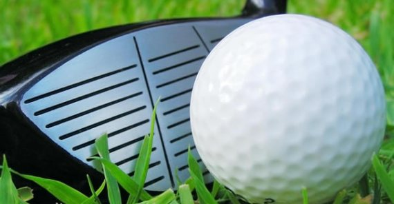 Ready to drive golf ball - Luxury Golf Limousine