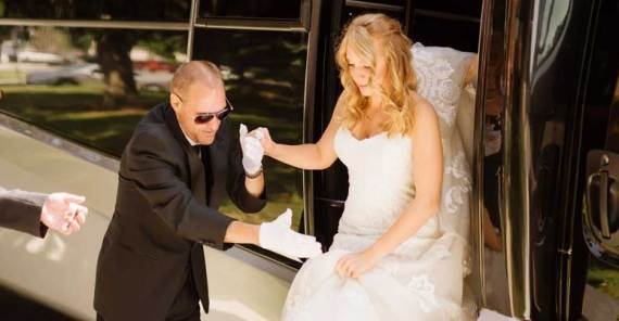unforgettable wedding day chauffeur