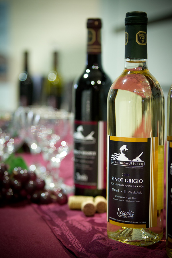 A fine bottle of wine from Niagara region