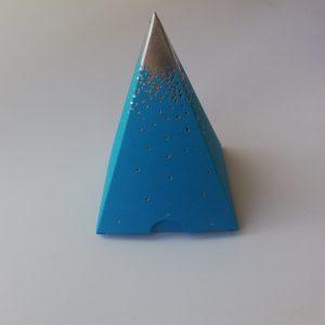 Contenant Pyramide pluie d'étoile Turquoise