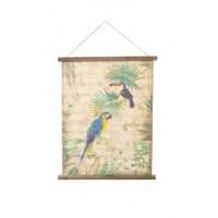 Kakémono Perroquet et Toucan