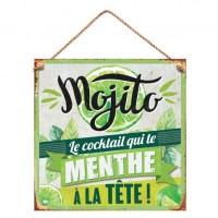 "Plaque en métal décorative ""Mojito"""