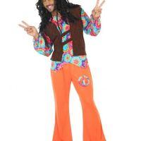 déguisement homme hippie orange