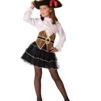 Déguisement pirate fille marron et noir