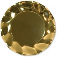 Assiette corolle 27cm doré