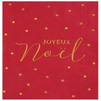 Serviettes Noël velours rouge