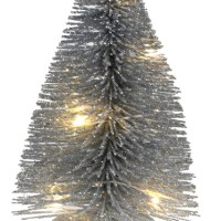 Sapin lumineux 10cm Argent