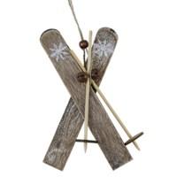 Suspension ski en bois