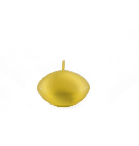 bougie flottante doré