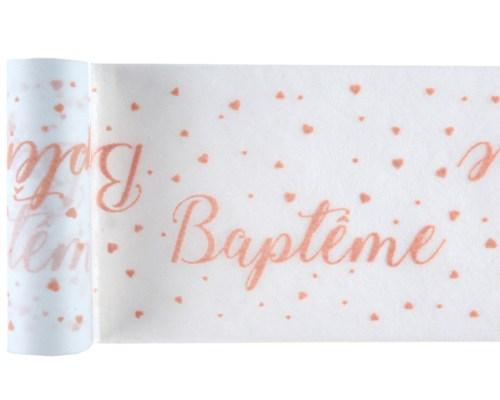 Chemin de table Baptême Corail