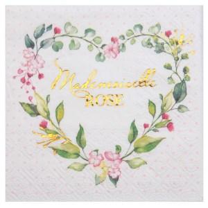 Serviette Madame ROSE x20