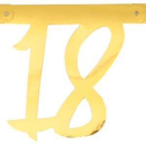 Banderole âge métal 18ans