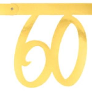 Banderole âge métal 60ans