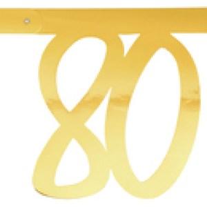 Banderole âge métal 80ans