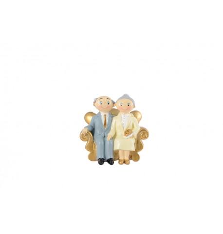 Couple Noce d'Or 15cm