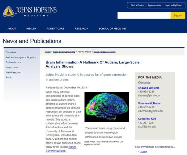 Zapalenie mózgu cechą autyzmu