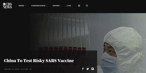 Chiny przetestują ryzykowną szczepionkę przeciw SARS