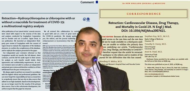 Surgisphere - badania kliniczne chlorochiny, dr Sapan Desai